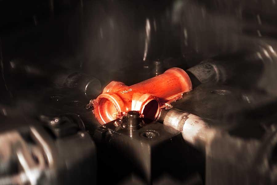 Reparto stampaggio ottone a caldo Donati Lumezzane