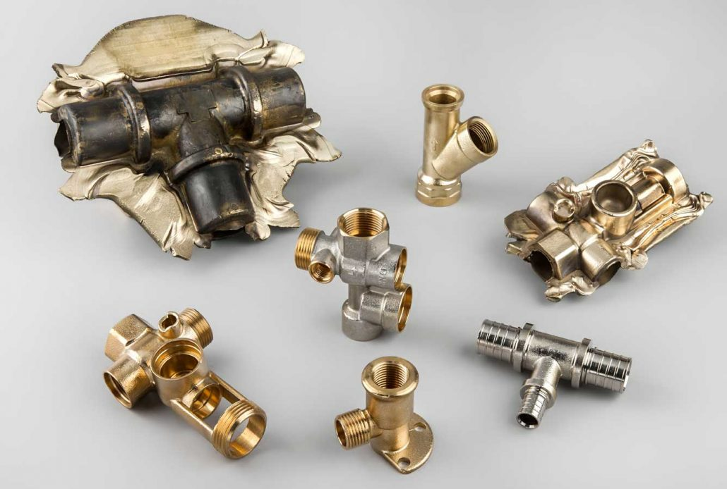 Brass components for heating systems