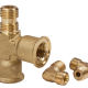 Pressure regulator housing for compressed air
