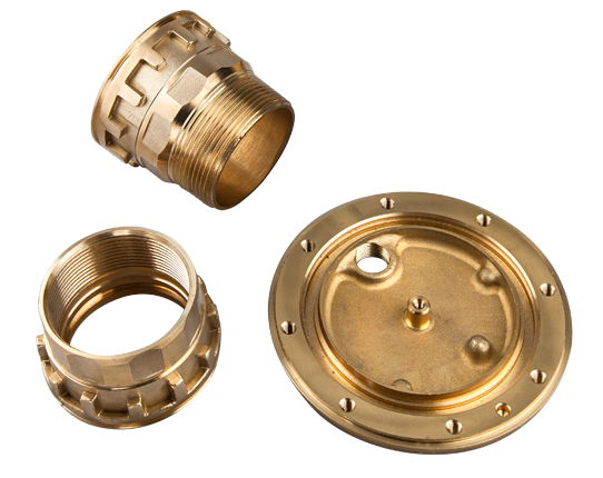 Forged machined brass parts for irrigation systems