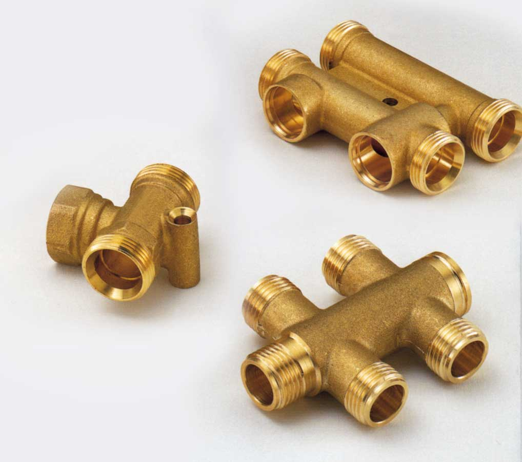 Brass parts and fittings for sanitary and plumbing