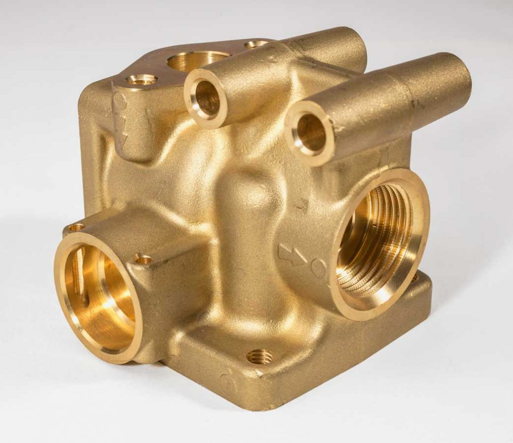 Brass components for solar thermal heating systems